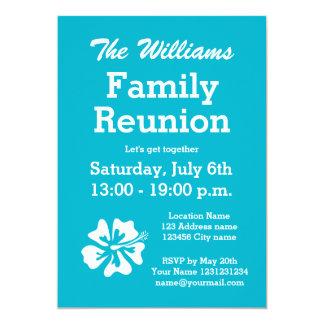 Convites de festas da reunião de família com flor