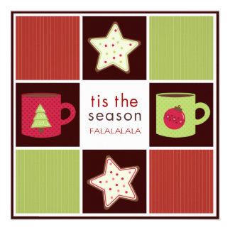 Convites de festas da troca do biscoito do Natal