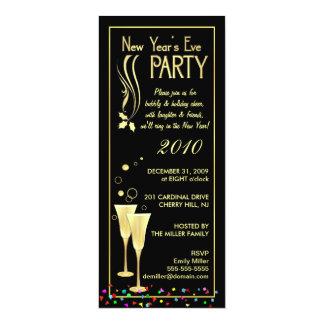 Convites de festas da véspera de Ano Novo - Convite 10.16 X 23.49cm