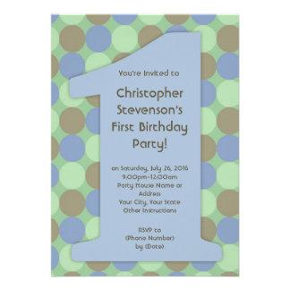 Convites de festas de aniversários 1 grandes