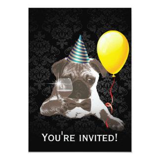 Convites de festas de aniversários à moda do Pug &