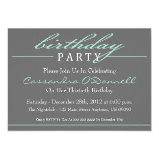 Convites de festas de aniversários à moda (verde)