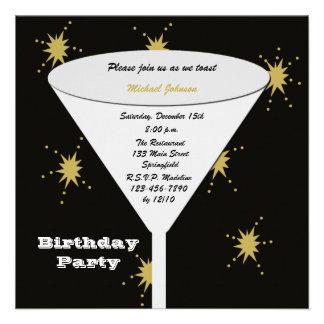 Convites de festas de aniversários adultos - brind