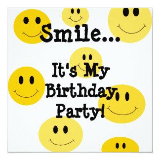 Convites de festas de aniversários amarelos da