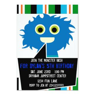 Convites de festas de aniversários azuis coloridos