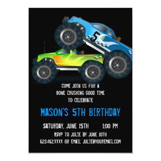 Convites de festas de aniversários azuis grandes convite 12.7 x 17.78cm