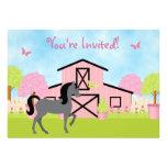 Convites de festas de aniversários bonito do caval