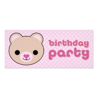 Convites de festas de aniversários bonitos do urso convite 10.16 x 23.49cm