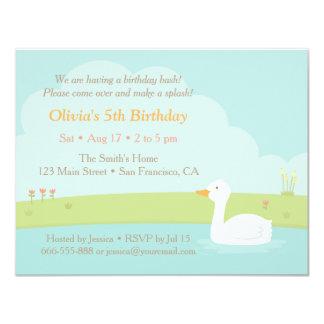 Convites de festas de aniversários brancos