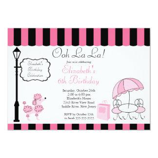 Convites de festas de aniversários cor-de-rosa