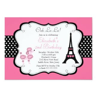 Convites de festas de aniversários cor-de-rosa da