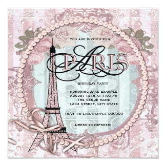 Convites de festas de aniversários cor-de-rosa de