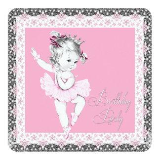 Convites de festas de aniversários cor-de-rosa e