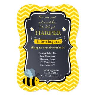 Convites de festas de aniversários da abelha