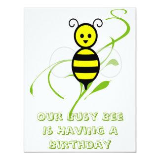 Convites de festas de aniversários da abelha da