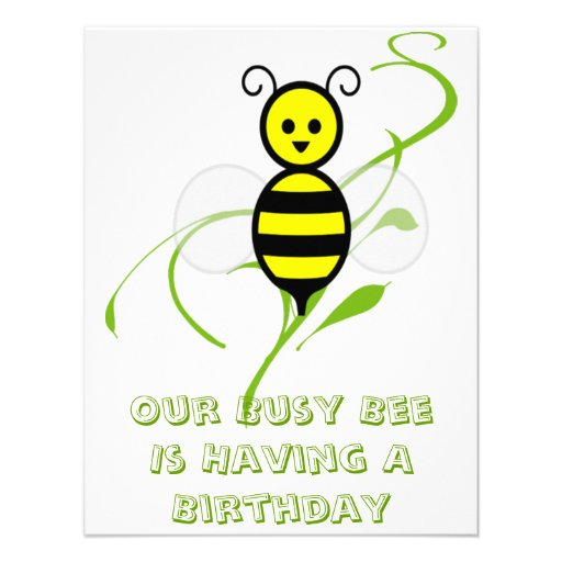 Convites de festas de aniversários da abelha da ab