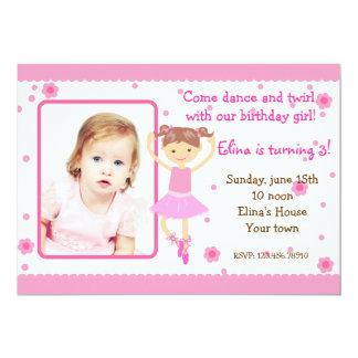 Convites de festas de aniversários da foto do balé