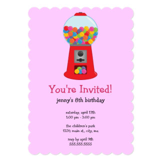 Convites de festas de aniversários da máquina de