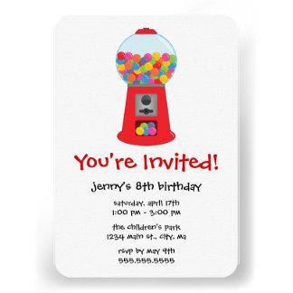 Convites de festas de aniversários da máquina de G