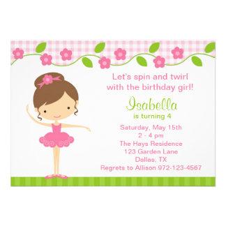 Convites de festas de aniversários da menina da ba