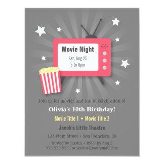 Convites de festas de aniversários da noite de