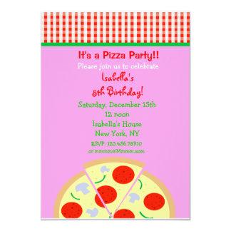 Convites de festas de aniversários da pizza