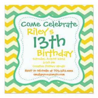 Convites de festas de aniversários de Chevron do