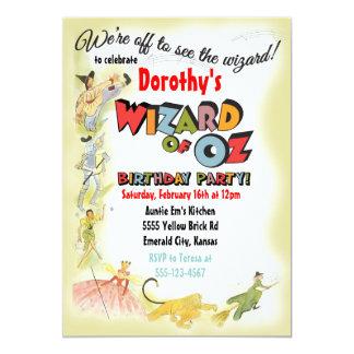 Convites de festas de aniversários de mágico de Oz