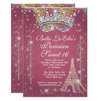 Convites de festas de aniversários de Paris Bling