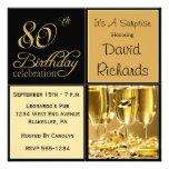 Convites de festas de aniversários do 80 da surpre