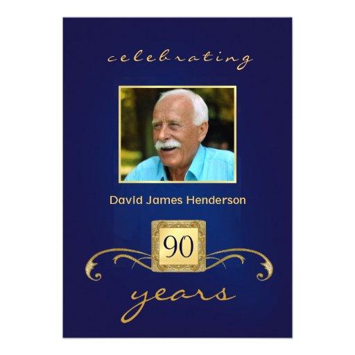 convites de festas de aniversários do 90 - monogra