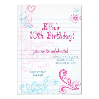Convites de festas de aniversários do adolescente