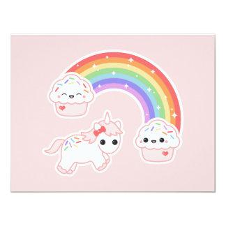 Convites de festas de aniversários do arco-íris do