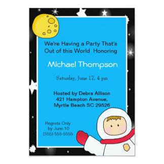 Convites de festas de aniversários do astronauta