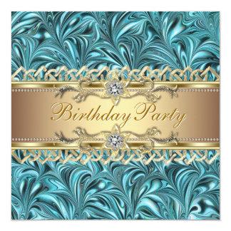 Convites de festas de aniversários do azul da
