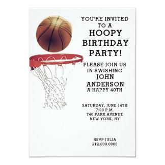 Convites de festas de aniversários do basquetebol