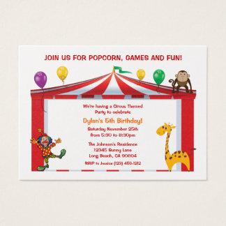 Convites de festas de aniversários do circo dos