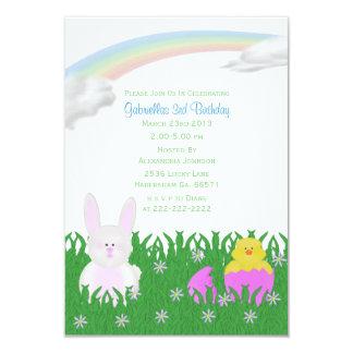 Convites de festas de aniversários do coelho do