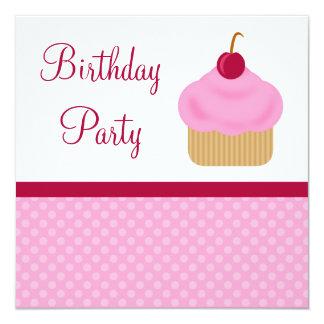 Convites de festas de aniversários do cupcake da