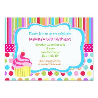 Convites de festas de aniversários do cupcake do