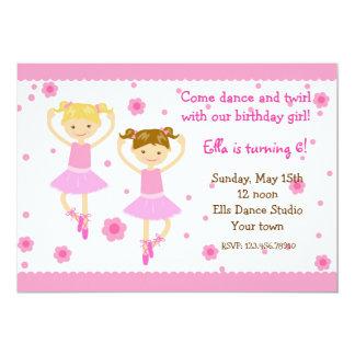 Convites de festas de aniversários do dançarino de