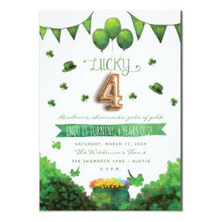 Convites de festas de aniversários do dia 4 de