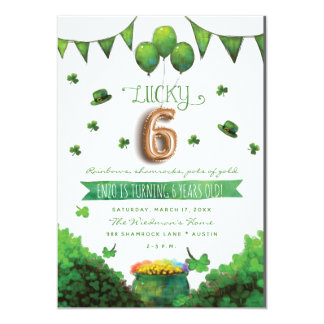 Convites de festas de aniversários do dia 6 de