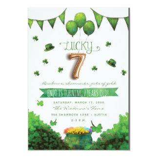 Convites de festas de aniversários do dia 7 de