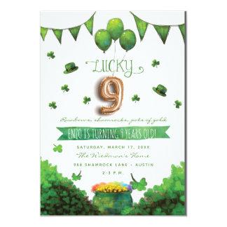 Convites de festas de aniversários do dia 9 de