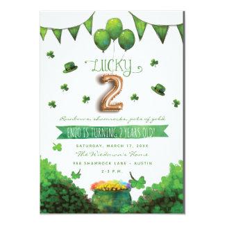 Convites de festas de aniversários do dia dois de