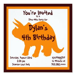 Convites de festas de aniversários do dinossauro