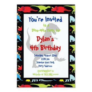 Convites de festas de aniversários do dinossauro convite 8.89 x 12.7cm
