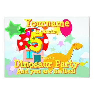 Convites de festas de aniversários do dinossauro convite 12.7 x 17.78cm