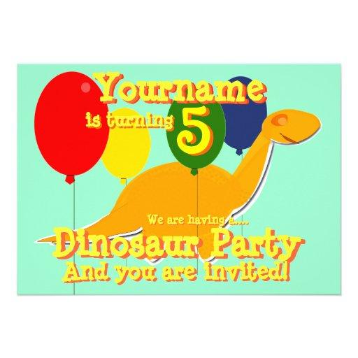 Convites de festas de aniversários do dinossauro 5